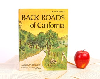 Book iPad Cover- Tablet Case made from a Book- Back Roads of California- Vintage