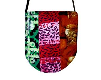 Messenger Bag - African Batik - Patchwork - Support the Deaf in Ghana