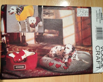 Vogue 90s 8865 Craft Sewing Pattern Dog Accessories
