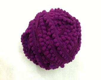 Pom Pom Lace - Purple Pom Pom - Pom Pom Supply - Cushion Cover - Dress - Quilting