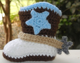 Baby Boy Cowboy Boots, baby boots, knit,Crochet Cowboy Boots, Strap,Spurs, star Customizable