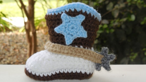 Crochet Cowboy Boots With Spurs Free Pattern Manet For
