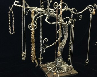 Jewelry Tree Stand Necklace Organizer Bracelet Display Ring Earring Storage-Made When Ordered-SMALL SIZE