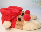 Custom Order  2 Pairs Santa Slippers For Jennifer and Gwen. Sizes Men's  11.5-12 and Wom 7-7.5