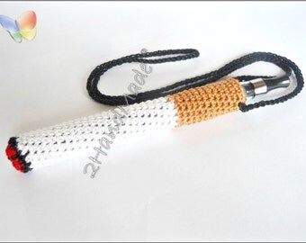 Crochet Ego Ecig Electronic Cigarette Vaporizer Holder Lanyard Tube Belt Case Lava Provari Vaping Necklace Cotton funny cigarette