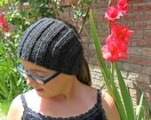 Knitted Headband - Children's - Gray / Grey / Charcoal Hand Knitted