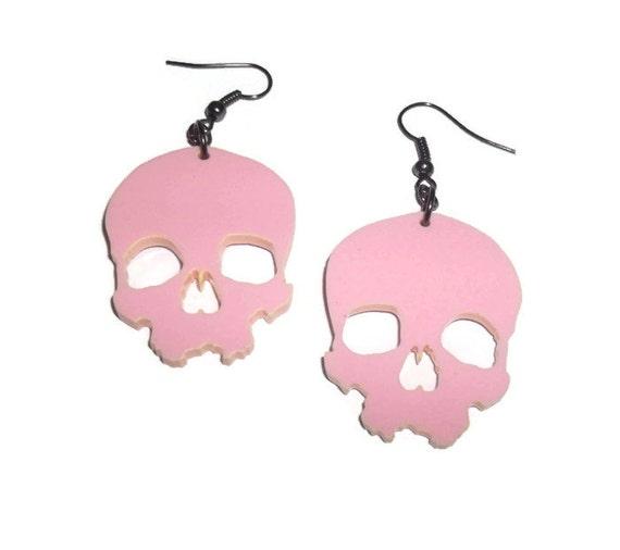 Pastel Pink Skull Earrings Kawaii Pastel Goth Large Laser Cut. Black Triangle Pendant. Fusion Pendant. Stylised Pendant. Art Pendant. Indian South Pendant. Wood Carving Pendant. Phoenix Gold Pendant. Solid Opal Pendant