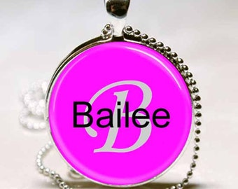 Bailee Name Monogram Handcrafted  Necklace Pendant (NPD0300)