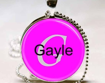 Gayle Name Pendant Name Monogram Handcrafted  Necklace Pendant (NPD2017)