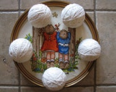 Felted Wool Dryer Balls - Set of 5 - Home Decor - Toy  - White