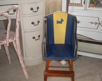 SALE......Awesome/Charming Antique Doll High Chair, Vintage Collector, Doll Collector, Bear Collector, Vintage Doll Furniture, Photo prop