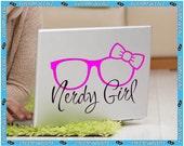 Nerdy Girl Popular Laptop Decal