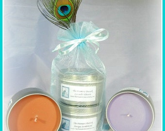 Antique Sandalwood and Lavender Flowers Scented Soy Candles as Gifted to Actress Stephanie Drapeau