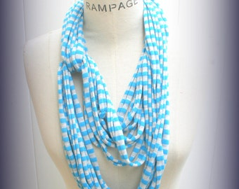 Scarf  Necklace Women Fashion Cowl Jersey Cotton Loop Scarf   - By PIYOYO