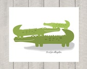 A is for Alligator - Nursery Art  Print
