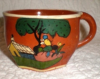 Tlaquepaque Red Pottery Cup Without A Saucer