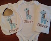 Giraffe Newborn Gift Set- Custom