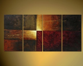 "Modern Painting, Original Abstract Art on Canvas by Osnat - MADE-TO-ORDER - 60""x30"""