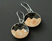 Mixed metal jewelry mokume earrings mokume and silver mountains
