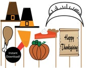 Printable Thanksgiving Photo Props INSTANT DOWLOAD...by Party Like Paula