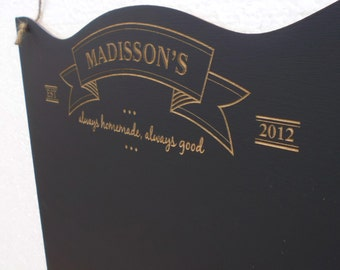 "Personalized Chalkboard 17.5x14"" Menu Rustic Kitchen Sign Chalk Board Customizable Family Chalk Board Ideal Family Wedding Gift"
