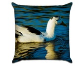"""Magpie Duck - Original Photo Sofa Throw Pillow Envelope Cover for 18"""" inserts"""