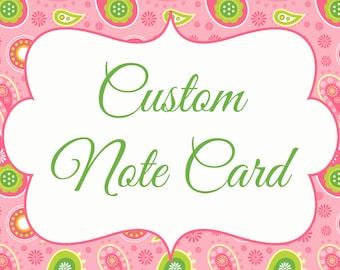 custom note card