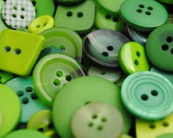 """400 Small Green Buttons - olive green, grass green, spring green, lime green, dark green and more, no shanks, sizes 1/8"""" up to 5/8"""""""