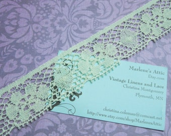 1 yard of Vintage 1 1/4 inch Ivory Chantilly lace trim for bridal, baby, housewares, sewing, crafts by MarlenesAttic - Item FF8