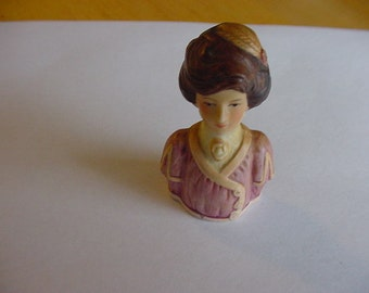 Vintage Avon Thimble, Lady of Fashion Circa 1900, Vintage Sewing Tools, Collectible, 1982