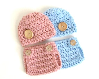 Boy Girl Twins Outfit / Hats for Twins / Boy Girl Twins Set / Outfit for Newborn Twins / Boy Girl Newborn Twin Hats / Twins Photo Props