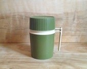 Vintage Thermos - Olive Green - Camping - Outdoors