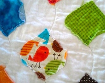 Scrappy Birds Quilt - Childs Quilt - Baby Quilt