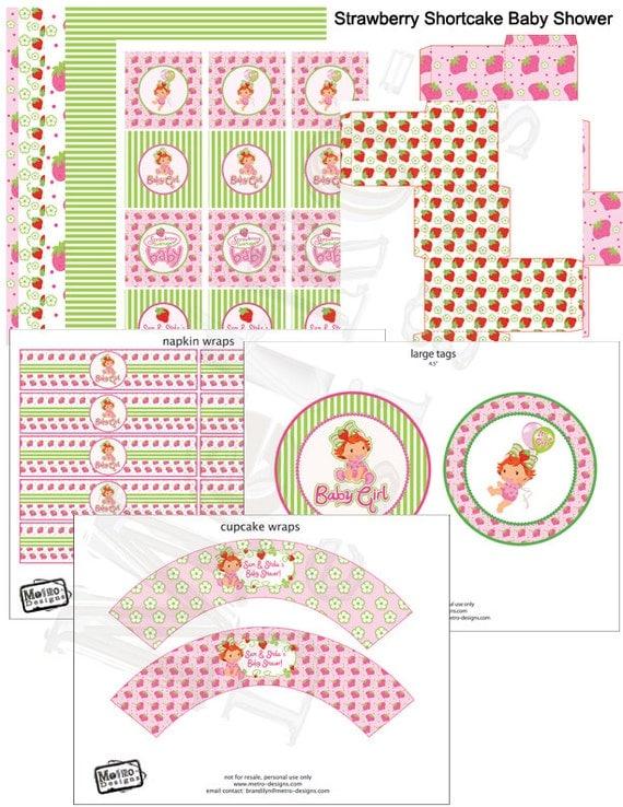 strawberry shortcake baby shower custom party decorations