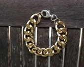 Mixed metal chunky bracelet