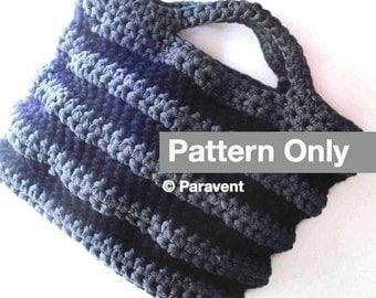 Zpagetti Shopping Bag Crochet Pattern - t-shirt yarn and chunky wool shopper