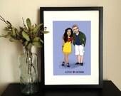 Custom Portrait Illustration - Couple/Friends (2 people) - DIY Printable