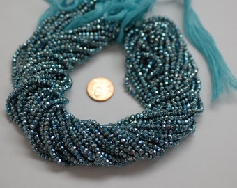 Light Blue Pyrite Rondelle Faceted