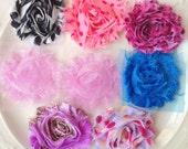Wholesale Flowers - Chiffon Flowers - Shabby Flowers - Shabby Chic Flowers - Flower Appliques - Shabby Flower Trim