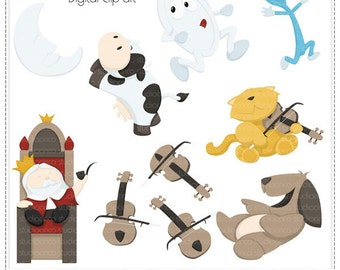 Nursery Rhymes Vol2 - Digital Clip Art , Commercial and Personal Use Clipart, Scrapbook, Printable - Instant Download