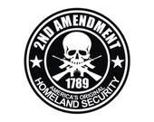 2nd Amendment Hard Hat Decal / Sticker Window Vinyl Label 1789 Guns (Many Colors)