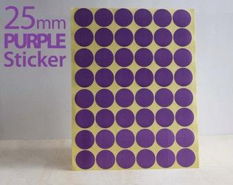 Set 624, Purple Circle sticker 25mm
