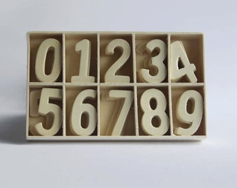 Set of 70 Wood Number 0-9