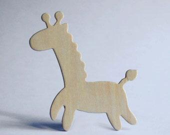 Wooden Giraffe Figure, DIY Wooden Toys