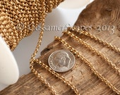 Solid RAW Brass chain 2mm approx rolo 3ft length