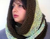 Fashion Color Block Circle Scarf Super Soft Neckwarmer Woman  Knit  Fashion  Circle Scarf NEW
