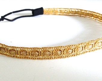 Gold Trim Headband