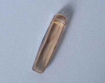 1 SWAROVSKI 6460 Column Tube Penndant Crystal 20mm GOLDEN SHADOW