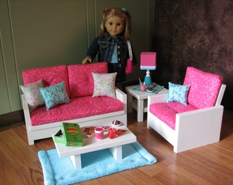 american girl doll living room 18 doll furniture american sized living by 19781