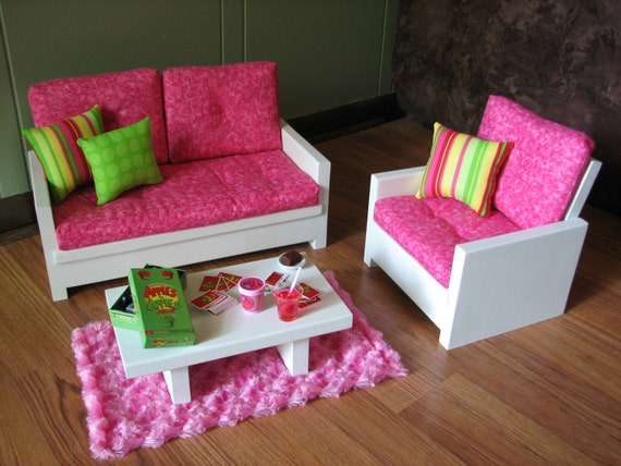 American Girl Sized Living Room 18 Doll By Madigracedesigns